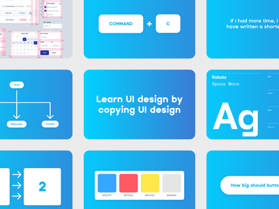 """""""Learn UI design by copying UI design"""" blog post on FDS"""