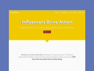 Mavenly Marketing Site Design