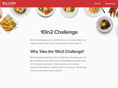 "Billion Dinners ""10in2"" Campaign"