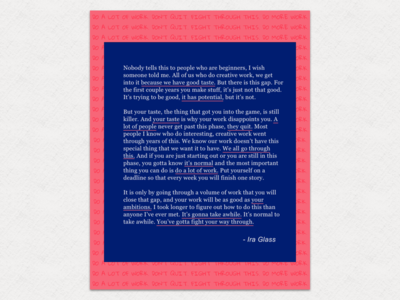 The Gap - Ira Glass Quote (FREE POSTER DOWNLOAD ATTACHED)