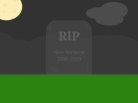 Graveyard Illustration - RIP New Website