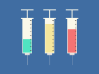 Medical Syringes with Needles - Illustration