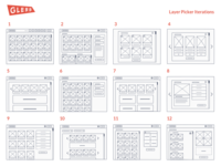 Glerb - Layer Picker Iterations (Wireframes)
