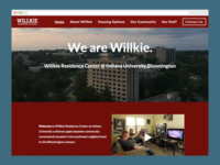 Willkie Residence Hall - Website Design
