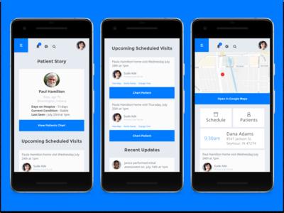 More Hospice App Screens