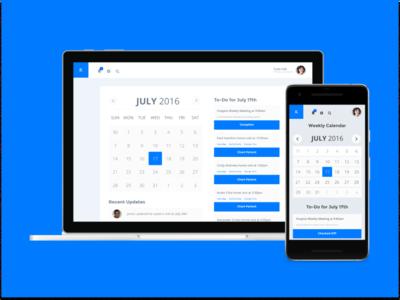 Hospice Nurse Calendar for Mobile and Desktop