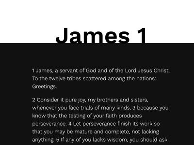James Chapter 1 - Animation ui design animation scripture christian bible james