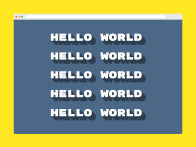 css drop shadow - hello world