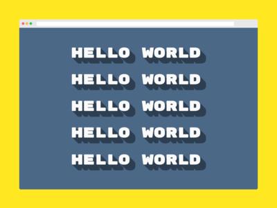 css drop shadow - hello world