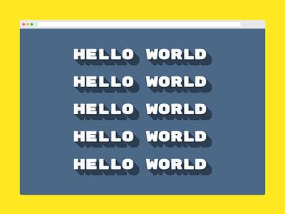 css drop shadow - hello world css hello world codepen