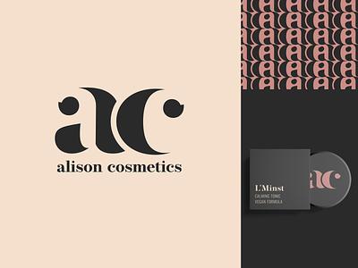 Alison Cosmetics logo cosmetics branding logo design 30daychallenge