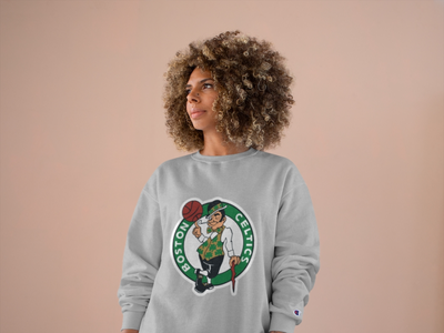 Women's Boston Celtics Champion Sweatshirt womens clothing womens champion womens champion logo boston design apparel design nba sweatshirt nba gear custom nba clothing nba streetwear boston celtics boston