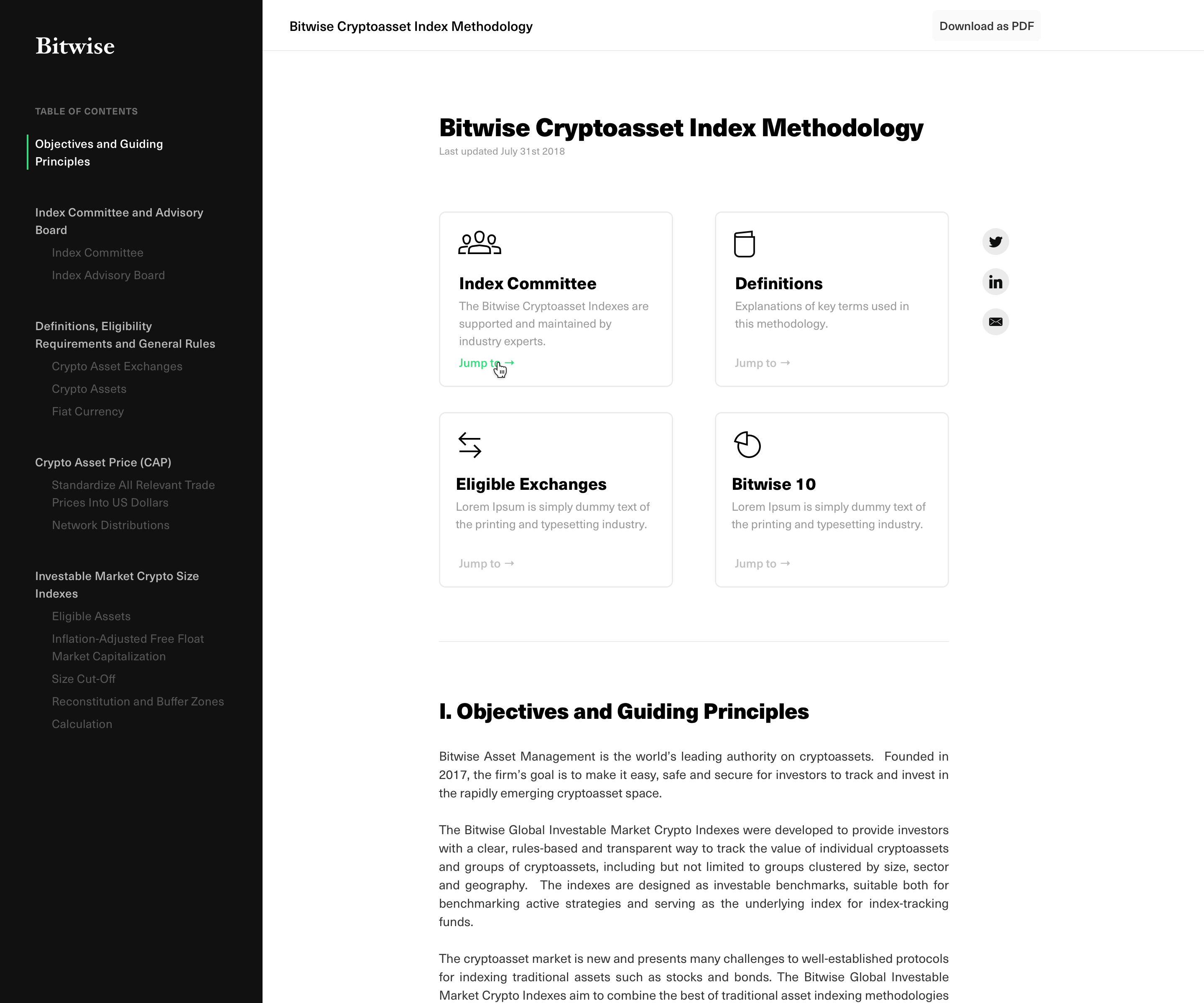 Joseph Perri Albanese / Projects / Bitwise Crypto Indexes | Dribbble