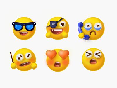 Emoji expression ui design illustration
