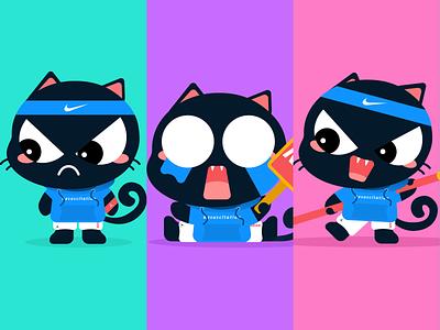 IP-Black cat illustration design