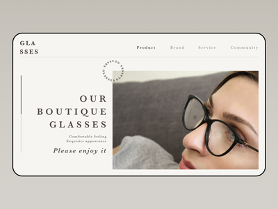 Glasses Buy online website uiux ui design web design design ui web