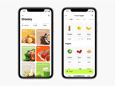 Grocery® mobile iphonex ecommerce uidesign