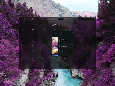 New Mac Calendar macos windows10 window dark noshadows ux ui flat mac facebook events calendar