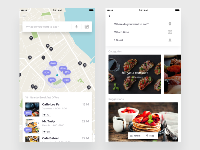 Table Reservation App By Roman Vorokhib Dribbble - Table reservation app
