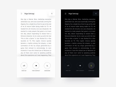 Reader Mobile App dark ui white ui app application mobile ux ui reader