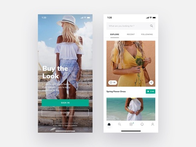 Buy The Look – Shop Collections collection ui ux iphonex app anything sell buy ecommerce ios