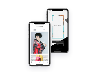 Home. ZALORA fashion ios iphonex app ecommerce ux mobile