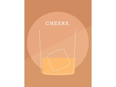 🥃Cheers shape elements simplistic indesign warm colors bourbon cheers layout design design color schemes