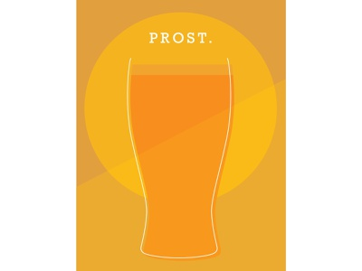 🍺Prost beer warm colors simplistic indesign cheers layout design design color schemes
