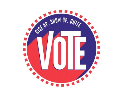 VOTE 🇺🇸 adobe illustrator redwhiteandblue vote2020 riseupshowupunite illustrator vote shape elements illustration simplistic color schemes