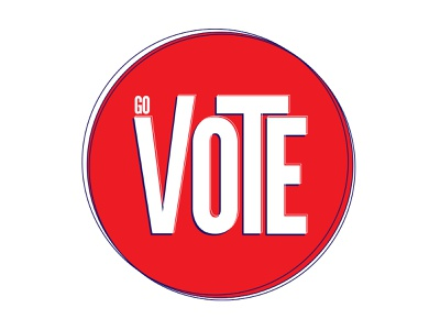 VOTE 🇺🇸 typogaphy vote2020 vote redwhiteandblue adobe illustrator shape elements illustration simplistic design color schemes