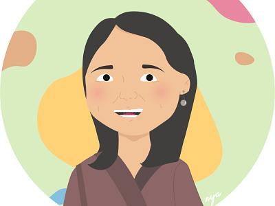 Birthday Girl Illustration vector illustration icon design