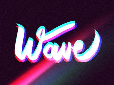 Hand Lettering | Retro Wave