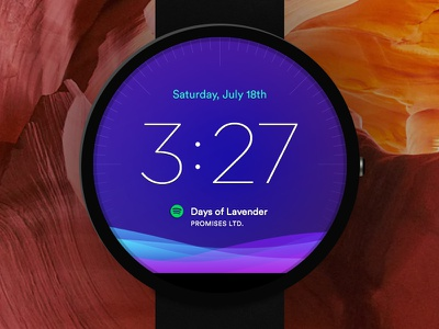 Moto 360 Wearable UI clock time wear android wear apple watch moto 360 moto watch ui wearable gradient purple