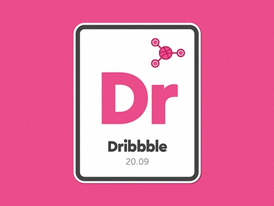 Dribbble | The Chemical Element chemical sticker pink dribbble ion atom element periodic table particle molecule atomic