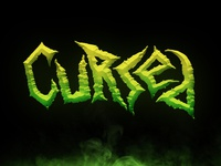 """Cursed"" Horror-Themed Hand Lettering"