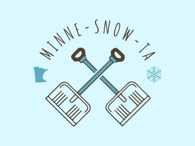 Minne-snow-ta Badge minnesota snow badge snowflake