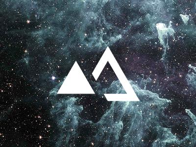 "It's an ""M"" triangle m logo geometric brand"