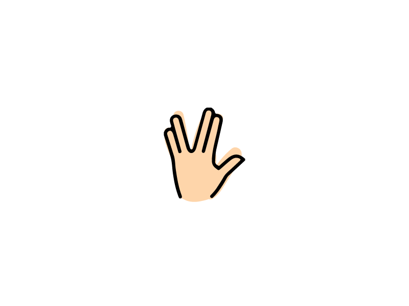 R.I.P. Mr. Spock icon hand spock vulcan trek emoji
