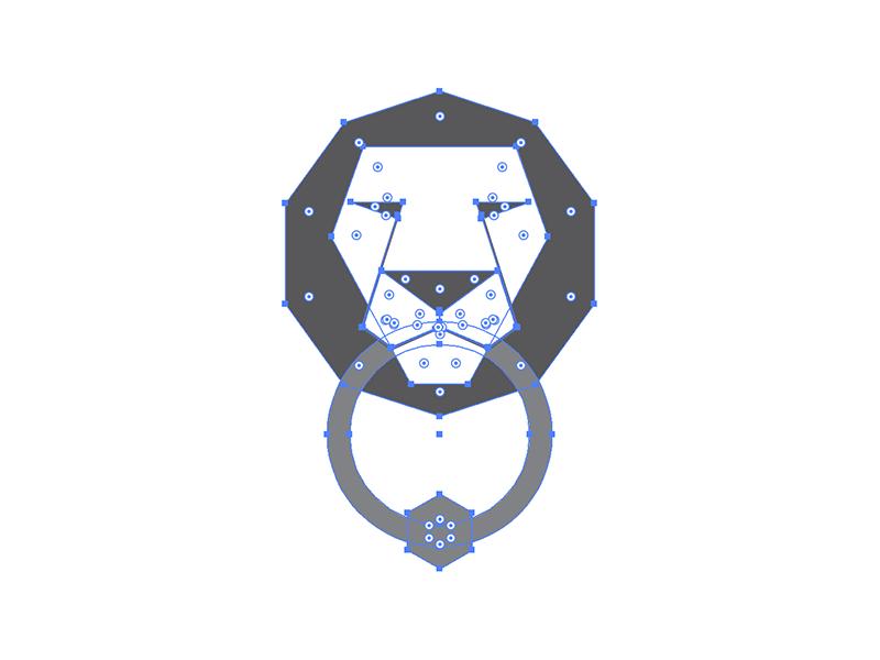 Nice Knockers lion polygon animal geometric knocker door king