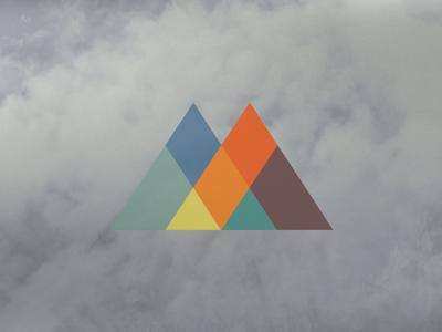 Geo Mountains triangles mountains geometric logo brand