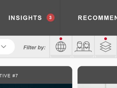 Filters for Super-Secret Marketing App filter icons buttons app