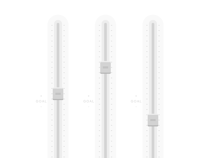Slider UI for Super-Secret Marketing App slider scroll ui mixer