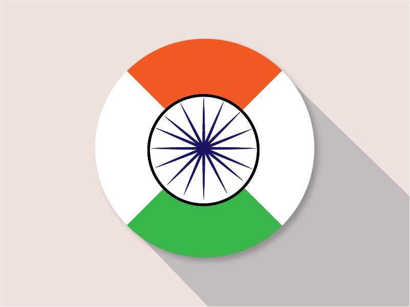 Happy Republic Day green white saffron independence country flag illustrator flat design colors art logo dribbble adobe illustration design india