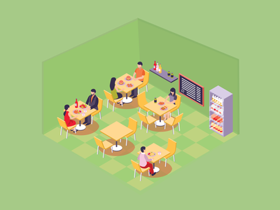 Food Corner illustration design branding