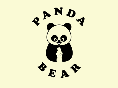 Panda Bear vector creative minimal logo illustration branding design