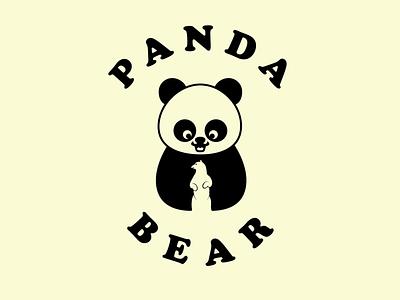 Panda Bear vector creative minimal logo illustration branding design