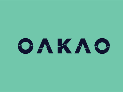 "Fashion  Logo ""OAKAO"" lettering art graphic design illustrator idea flat logo design typography vector logodesign creative minimal logo illustration branding design"