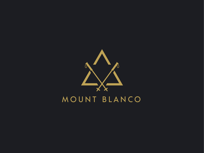 "Ski Mountain Logo ""Mount Blanco"" vector logodesign typography illustration minimal creative logo design branding"