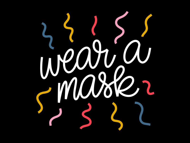 〰️WEAR A MASK!〰️ handlettering art script procreate graphic design design typography hand lettering lettering