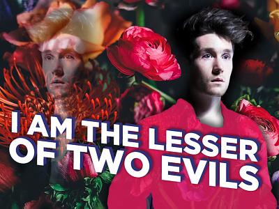 Two Evils pink bastille graphic design leaves design flowers music typography